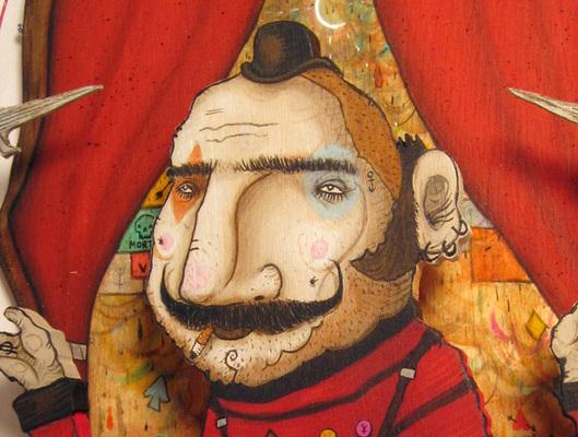 Carousel juggler face