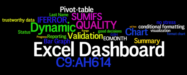 Carousel excel dashboard wordle1a