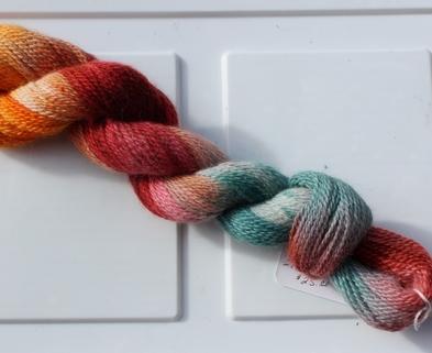 Medium hand painted warm yarn 3430