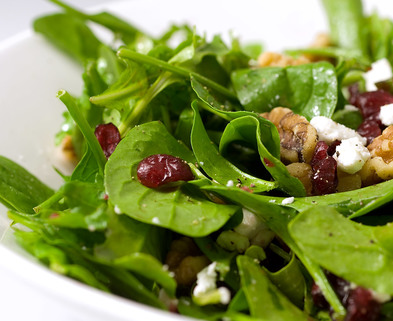 Medium cranberry goat cheese salad
