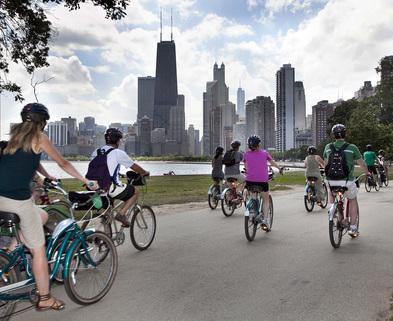 Medium biking lakefront