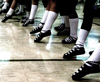 Medium irish dancers