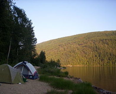 Medium camping by barriere lake  british columbia   20040801