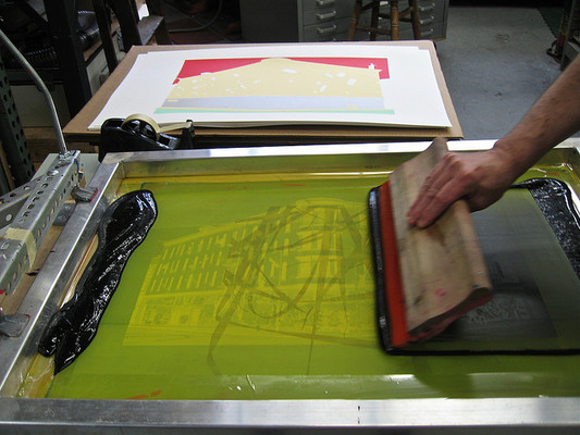 Carousel screen printing