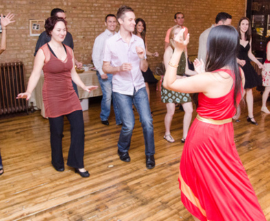 Medium cha cha dance class