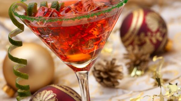 Carousel holiday martini
