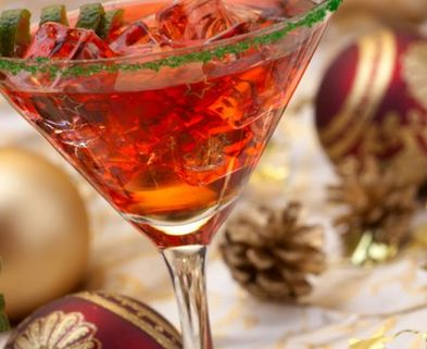 Medium holiday martini
