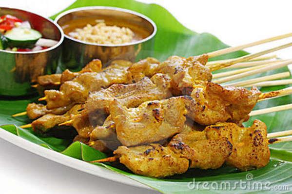 Carousel moo satay pork satay thai cuisine 21912210