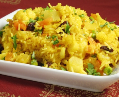 Medium vegetable biryani
