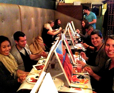 Painting classes san francisco painting and wine dabble for Paint and wine raleigh