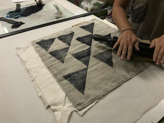 Carousel blockprinting fabric ashley quick dabble