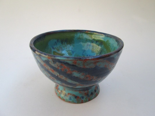 Carousel glazed bowl by kevin
