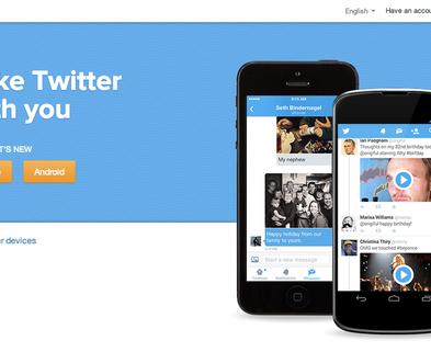 Medium twitter screen
