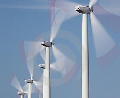 Medium windmill in motion