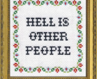 Medium bitching cross stitching