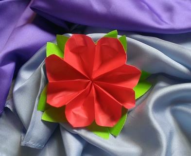 Medium flower origami