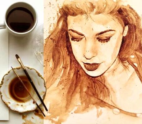 Carousel coffee painting