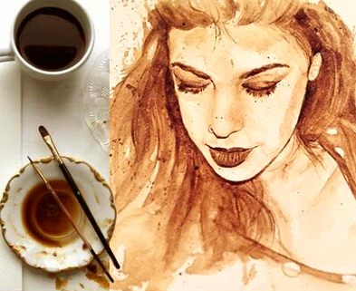 Medium coffee painting