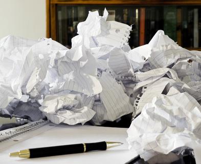 Medium crumpled paper