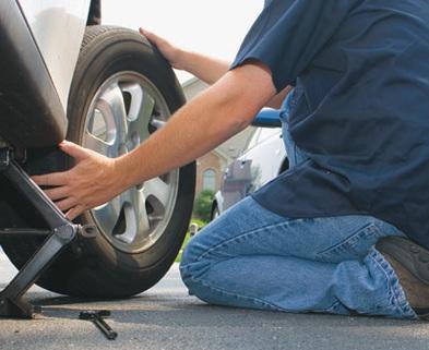 Medium tire change