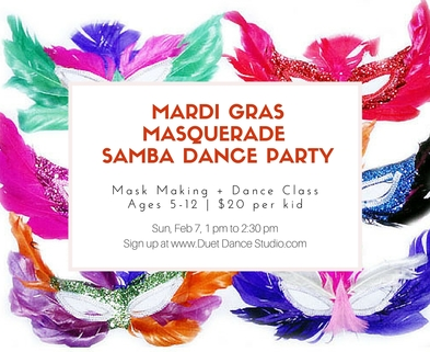 Medium mardi gras masquerade dance party