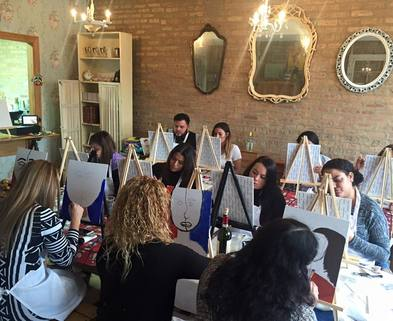 Byob painting classes chicago valentine 39 s day byob for Painting class chicago