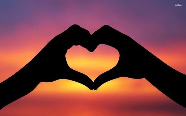 Carousel hand heart silhouette
