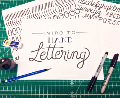 Medium handletteringintro