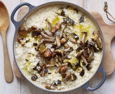 Medium mushroom risotto