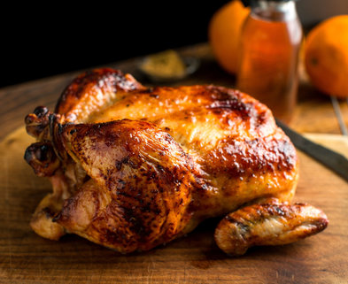 Medium roast chicken with cumin honey and orange superjumbo
