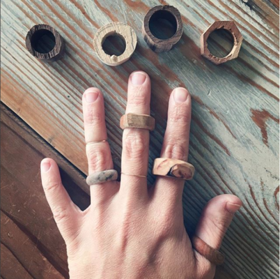 Carousel 1 reclaimed wood rings