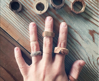Medium 1 reclaimed wood rings