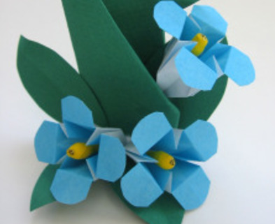 Medium origami flower forget me not