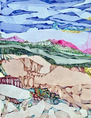 Carousel watercolor