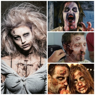 Carousel zombie collage