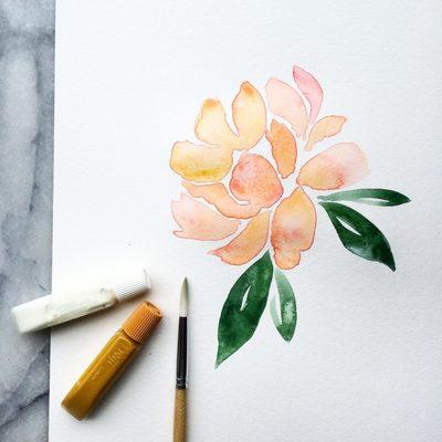 Carousel watercolor pd