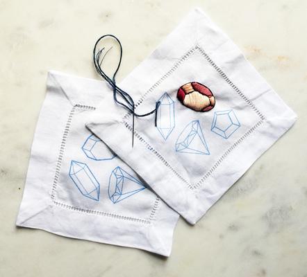 Carousel cocktail napkins