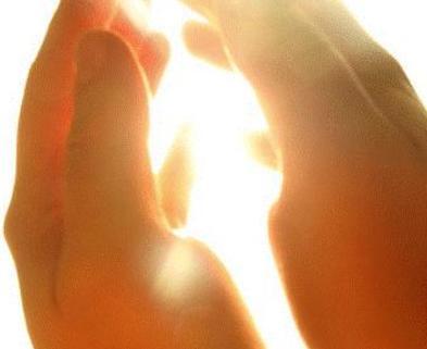 Medium light shining hands