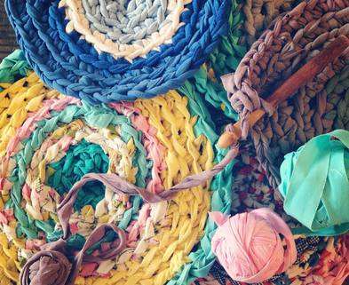 Medium crochet rag rug