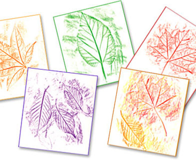 Medium leaf rubbings craft 479x300