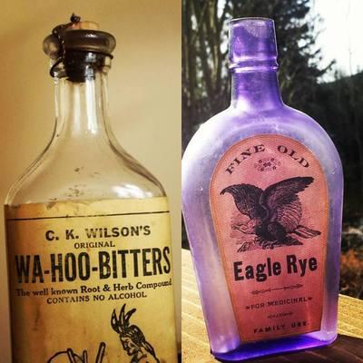 Carousel bitters bottles