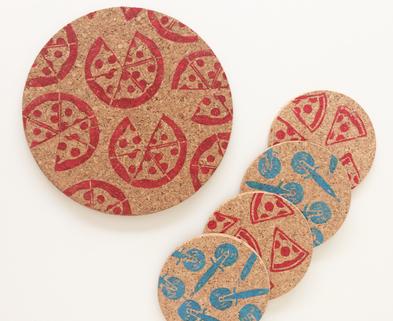 Medium coasters pizza