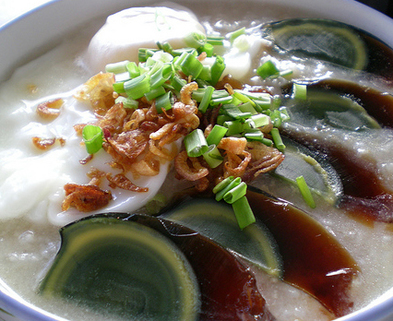 Medium duck egg congee