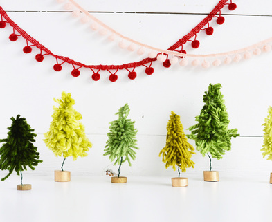 Medium diy mini yarn trees