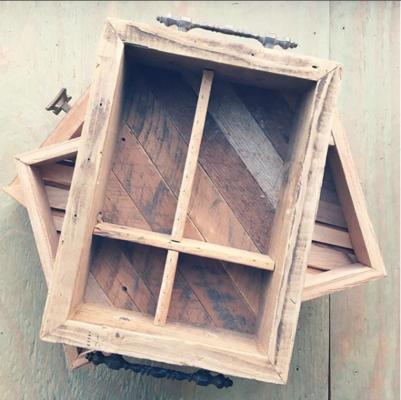 Carousel reclaimed wood tea tray
