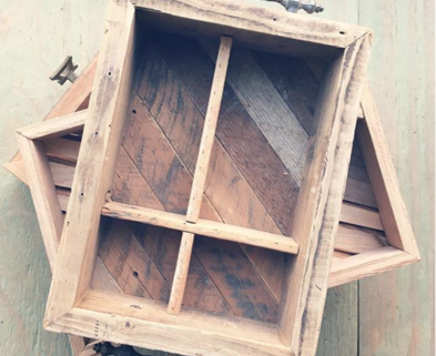Medium reclaimed wood tea tray