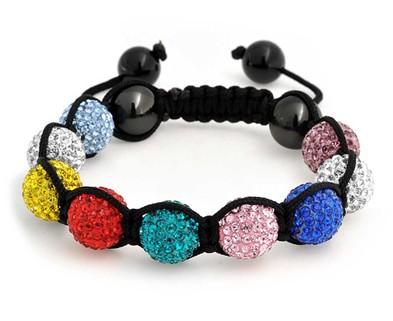 Medium rainbow shambala bracelet