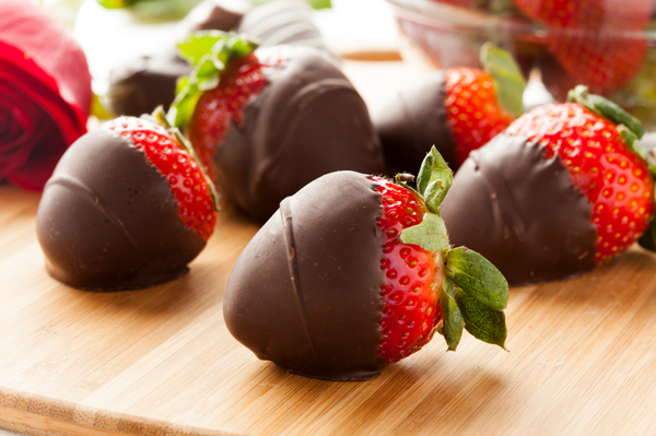 Carousel chocolate covered strawberries
