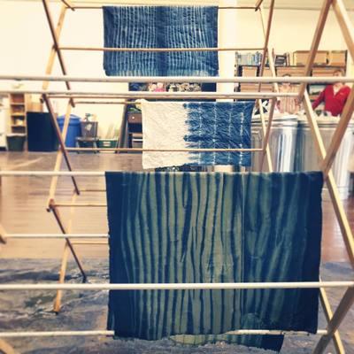 Carousel 1 arashi shibori dyeing