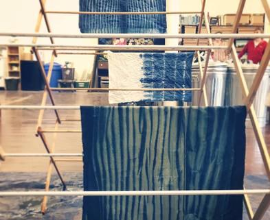 Medium 1 arashi shibori dyeing